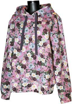 '분더샵'과의 협업 컬렉션에서는 에르뎀 고유의 꽃무늬를 후드 티셔츠에 넣었다.