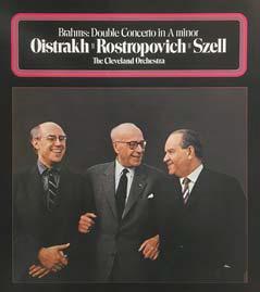 조지 셀이 첼리스트 로스트로포비치, 바이올리니스트 오이스트라흐와 함께 연주한 브람스의 '이중 협주곡' 음반. 셀이 최만년에 한 녹음이다.
