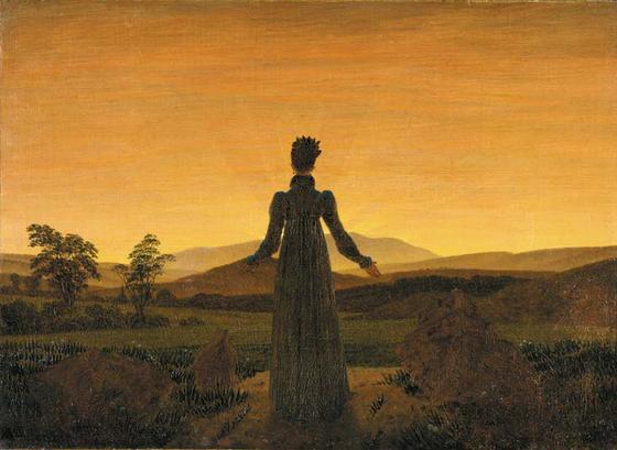 카스파 다비트 프리드리히의 '해 앞에 선 여인'(1818~1820)