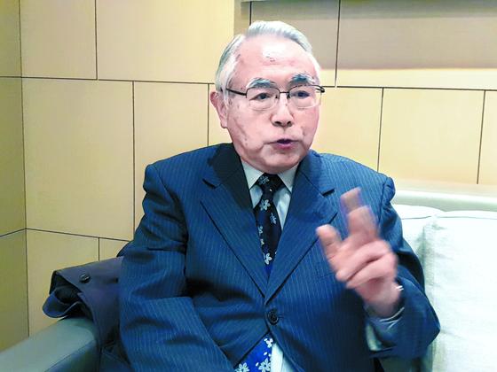 지난 18일 도쿄에서 마쓰타니 요시아키 목사가 중앙SUNDAY와 인터뷰하고 있다. [차세현 기자]