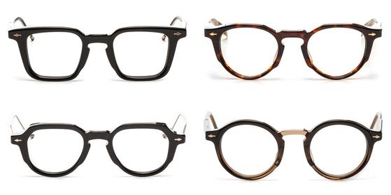 프랑스 안경 디자이너 자크 마리 마지가 올해 내놓은 안경들. 압구정 소재 프리미엄 안경편집매장 홀릭스에서 최근 가장 인기 있는 안경이다. 한 모델당 200~500점만 만들어 남들과 다른 안경을 찾는 이들 사이에서 인기가 높다고. [사진 홀릭스]