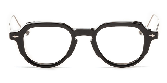 올해 안경 트렌드로 레트로풍 뿔테 안경이 주목 받고 있다. 사진은 프랑스 디자이너가 만든 안경 '자크 마리 마주'로 1910~60년대 안경 디자인을 현대적으로 리디자인한 제품이다.   [사진 안경편집매장 홀릭스]