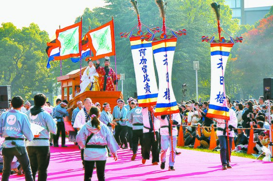 2017년 오사카에서 열린 사천왕사 왔소 축제.