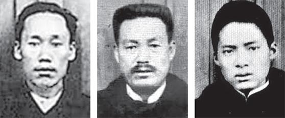 안중근의 거사 동지 우덕순·조도선·유동하(왼쪽부터, 재판사진)