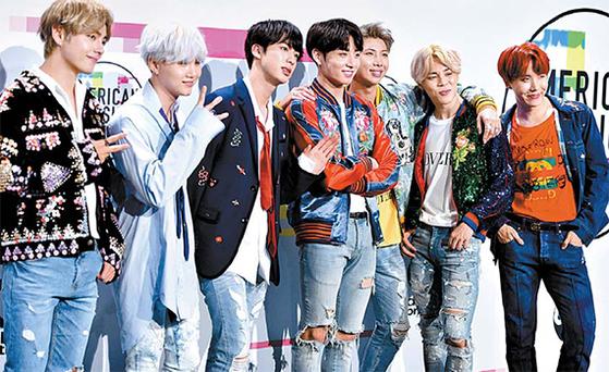 BTS는 기존 K팝을 넘어서는 글로벌 인기를 누린다. 진정성을 내장한 음악이 성공 비결로 꼽힌다. [사진 a9press]