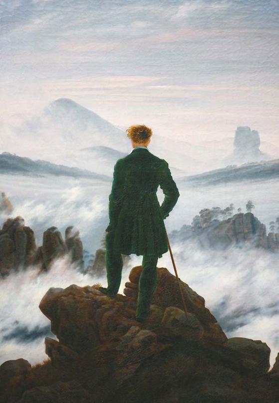 카스파르 프리드리히의 전형적인 독일식 그림 '안개바다 위의 방랑자'. 이렇게 독일인들은 '방랑'한다. [사진 윤광준]