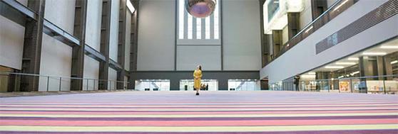 현대자동차가 영국 테이트모던 터빈홀 전시를 후원하는 '현대커미션'.