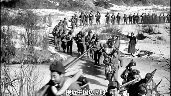 1950년 11월 19일, 장진호 지역으로 향하는 중국인민지원군 제9병단.