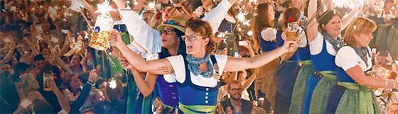 독일 뮌헨에서 매년 9월 중순~10월 초순 열리는 맥주 축제 옥토버페스트에는 500만 명이 몰린다. [EPA=연합뉴스]