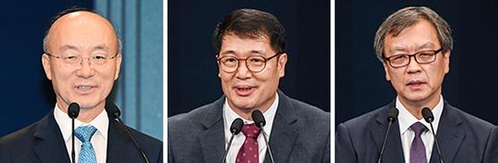 김조원, 황덕순, 김거성(왼쪽부터)