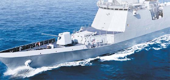 태국에 수출된 대구급 함정. [사진 대우조선해양]