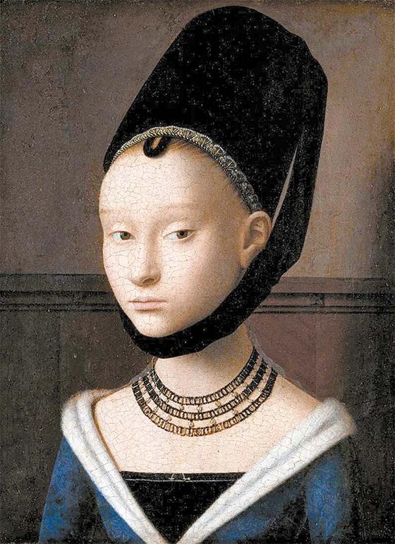 페트루스 크리스투스, '어린 아가씨의 초상화'1465~70년. [베를린 국립 미술관]