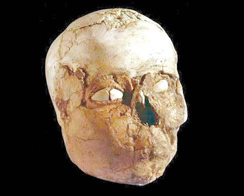 석고를 바른 예리코 해골. [대영박물관]