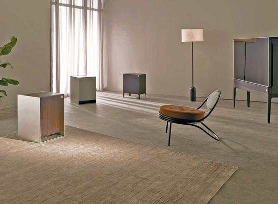 냉장고와 가습 공기청정기, 오디오와 TV 등 네 가지 제품군으로 구성된 프리미엄 프라이빗 가전 브랜드 'LG 오브제(Objet)'.