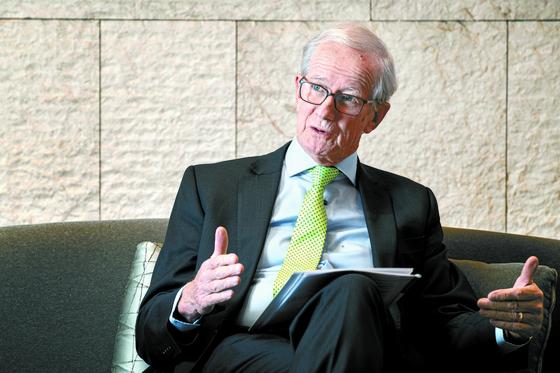 앨런 버크웰 임페리얼칼리지런던 명예교수가 EU 농업정책에 대해 설명하고 있다. 전민규 기자