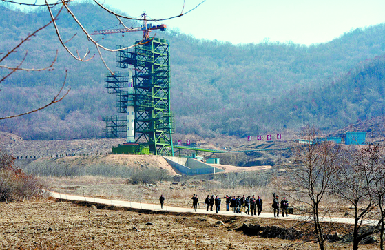 북한 평안북도 철산군 동창리 미사일 발사장 전경. 대륙간탄도미사일(ICBM)이 발사됐던 이곳에서 최근 새로운 움직임이 포착됐다. [뉴스1]