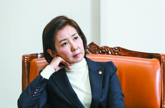 나경원 자유한국당 원내대표가 6일 국회에서 정국 현안에 대한 입장을 밝혔다. 나 원내대표는 10일 임기를 마치고 물러난다. 김경록 기자
