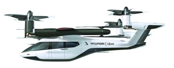 미국 라스베이거스에서 7일(현지시간)부터 열린 세계 최대 가전 전시회 'CES 2020' 현대차 전시장에서 관람객들이 현대차와 우버가 협력해 만든 개인용 비행체(PAV) 콘셉트 모델 'S-A1'을 살펴 보고 있다. [연합뉴스]