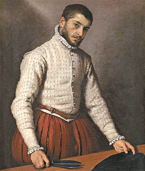 지오바니 바티스타 모로니(1520-1579) '재단사'. (런던 내셔널 갤러리 소장)
