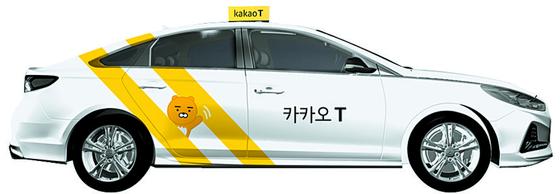 카카오프렌즈 인기캐릭터인 라이언을 활용한 카카오T블루 택시