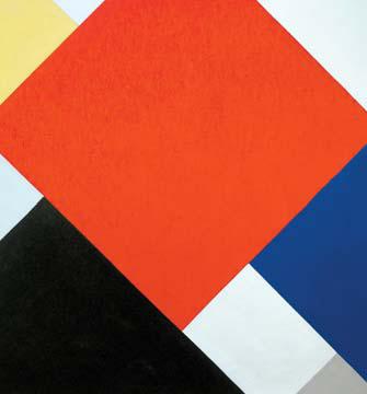 대각선으로 '역동성'을 표현하고자 한 두스부르흐의 작품 '반구성(Counter-Composition)-5'(1924)