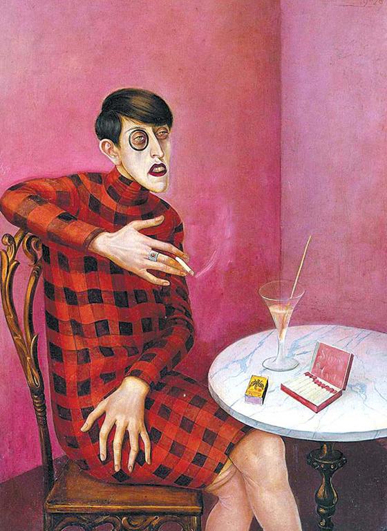 오토 딕스, '저널리스트 실비아 폰 하르덴의 초상화(1926)'. [파리, 퐁피두 센터]