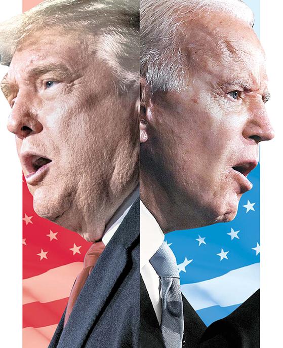 도널드 트럼프(左), 조 바이든(右)