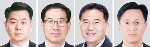 고승환 부사장, 이강협 부사장, 최방섭 부사장, 김학상 부사장(왼쪽부터)