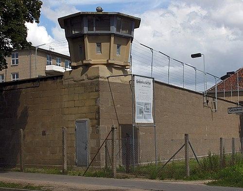 슈타지 심문 감옥 베를린-호엔쉔하우젠의 감시탑 전경. 지금은 박물관으로 사용하고 있다. [사진 독일 연방정부문서보관소]