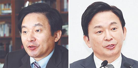 원희룡 제주지사의 눈썹문신 전후. [중앙포토]
