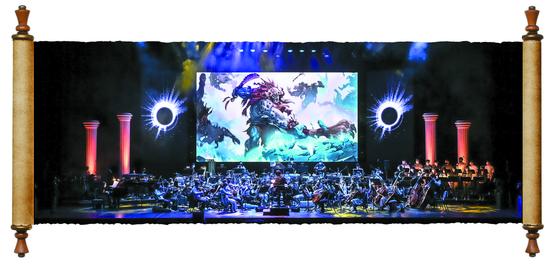 세종문화회관이 최초로 기획한 게임음악 콘서트 '리그 오브 레전드: 디 오케스트라'. KBS 교향악단·위너오페라합창단·서울시청소년국악관현악단 등 총 75명이 무대에 오른다. [사진 세종문화회관]