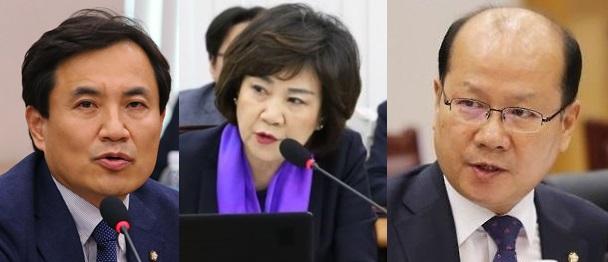 (왼쪽부터)자유한국당 김진태·김순례·이종명 의원. 사진=연합 자료사진