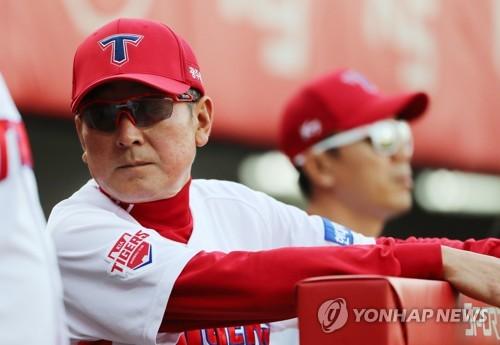 김기태 사퇴 선언 후 마지막 경기