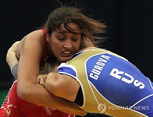 2010년 레슬링 세계선수권대회 당시의 타티아나 수아레스