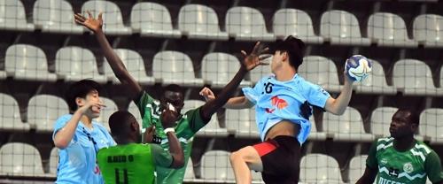 한국과 나이지리아 경기 모습.