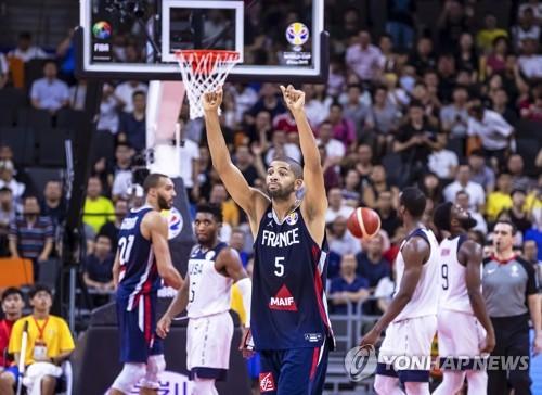 프랑스와 미국의 경기 모습
