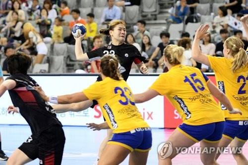 한국 여자핸드볼, 프리미어 6에서 스웨덴 연파하고 우승