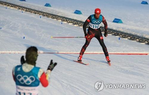 평창 동계올림픽 스키 크로스컨트리 경기에서 완주한 피타 타우파토푸아.