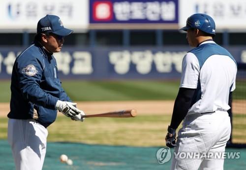 이동욱 감독과 나성범