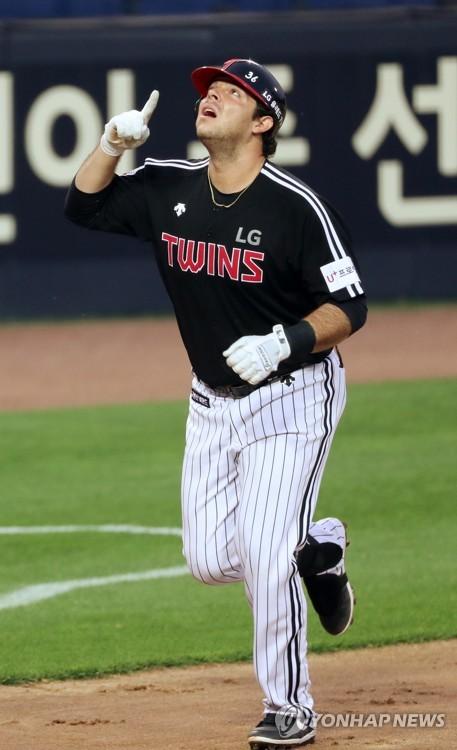 괴력의 라모스, 시즌 10호 홈런 세리머니