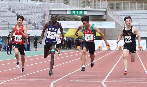 한국 육상 남자 단거리 유망주 비웨사