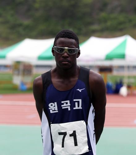 한국 남자 고교생 스프린터 비웨사