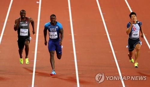 김국영, 세계선수권 단거리 사상 최초 준결선 진출